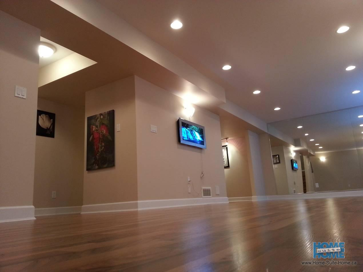 Basement finishing and completing unfinished basements for Houses with basements in california